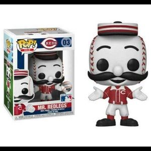 Funko pop! MLB Mascots Mr. Redlegs Figure NIB